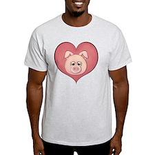 pig heart-001 T-Shirt