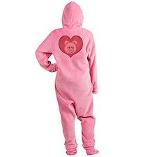 pig heart-001 Footed Pajamas