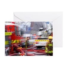 Firefighting, Dunedin, South Island, Greeting Card