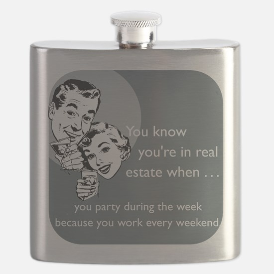 Party Like an Agent Glass Flask