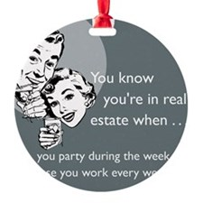 Party Like an Agent Glass Ornament