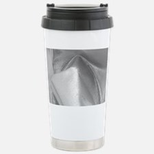 metalicSilverFabric_MiniWallet Travel Mug