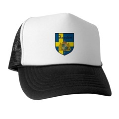 Sweden Flag Crest Shield Trucker Hat