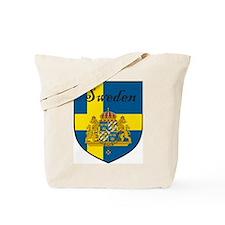 Sweden Flag Crest Shield Tote Bag