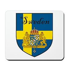 Sweden Flag Crest Shield Mousepad