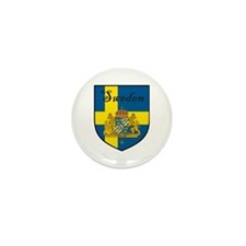 Sweden Flag Crest Shield Mini Button (100 pack)