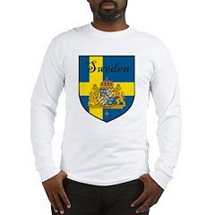Sweden Flag Crest Shield Long Sleeve T-Shirt