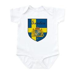 Sweden Flag Crest Shield Infant Bodysuit