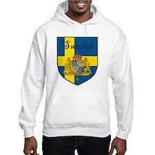 Sweden Flag Crest Shield Hoodie