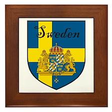 Sweden Flag Crest Shield Framed Tile