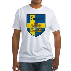 Sweden Flag Crest Shield Shirt