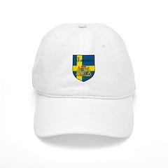 Sweden Flag Crest Shield Baseball Cap
