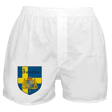 Sweden Flag Crest Shield Boxer Shorts
