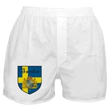 Sweden Flag Crest Shield Boxer Shorts