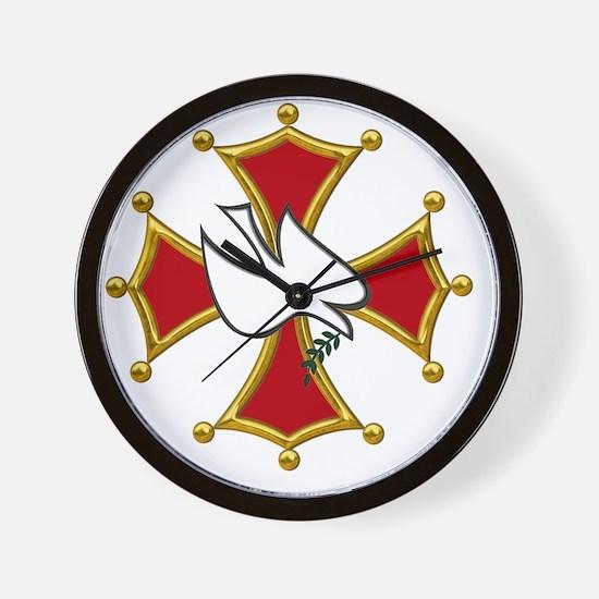 10k Cathar transparent copy Wall Clock