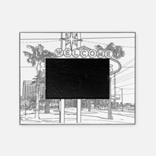 LasVegas_10x10_WelcomeSign_Black_1 Picture Frame