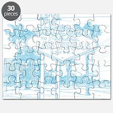 LasVegas_10x10_WelcomeSign_LghtBlue Puzzle