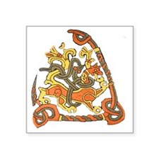 "jelling rune stone Square Sticker 3"" x 3"""