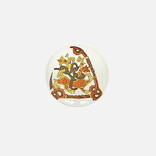 jelling rune stone Mini Button
