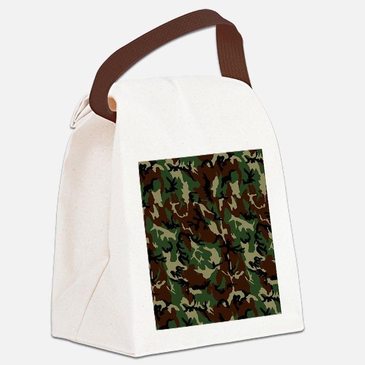 camo Canvas Lunch Bag