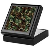 Camouflage Square Keepsake Boxes