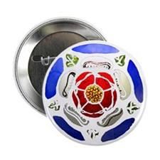 "Tudor Rose 2.25"" Button"