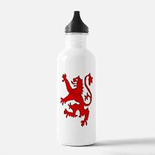 Scottish red lion ramp Sports Water Bottle