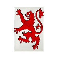 Scottish red lion rampant Rectangle Magnet