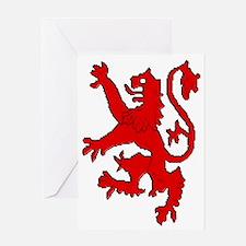 Scottish red lion rampant Greeting Card