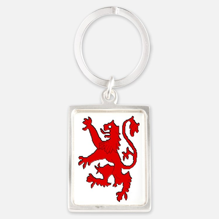 Scottish red lion rampant Portrait Keychain