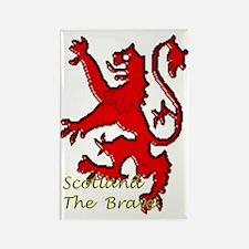 Scotland the brave Rectangle Magnet
