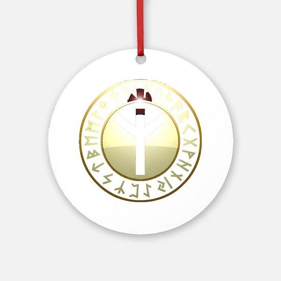 Life Rune shield Round Ornament