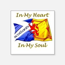 "in my heart scotland darks Square Sticker 3"" x 3"""