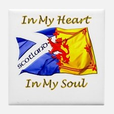in my heart scotland darks Tile Coaster
