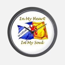 in my heart scotland darks Wall Clock