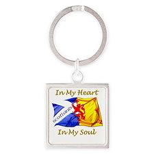 in my heart scotland darks Square Keychain