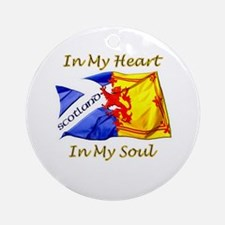 in my heart scotland darks Round Ornament