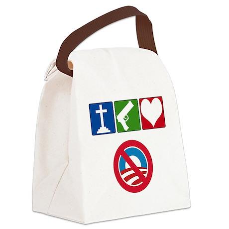 anti obama 2012(blk) Canvas Lunch Bag