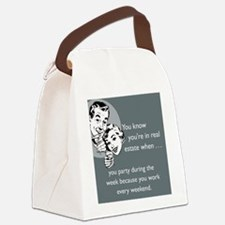 Party Like an Agent iPhone Canvas Lunch Bag