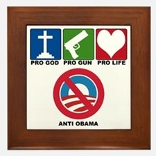 anti obama 2012 Framed Tile