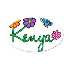 Kenya Oval Car Magnet