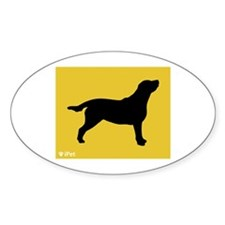 Labrador iPet Oval Decal