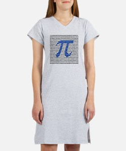 1018-digits-of-pi-1-black copy Women's Nightshirt