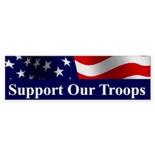 Support Our Troops Bumper Car Sticker