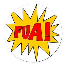FUA_Wt2 Round Car Magnet