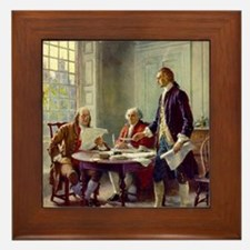 Signing_of_Declaration_of_Independence Framed Tile