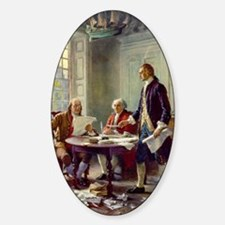 Signing_of_Declaration_of_Independe Sticker (Oval)