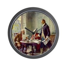 Signing_of_Declaration_of_Independence Wall Clock