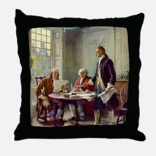 Signing_of_Declaration_of_Independenc Throw Pillow