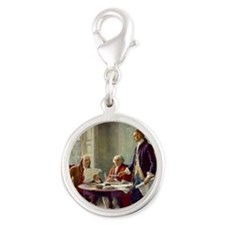 Signing_of_Declaration_of_Inde Silver Round Charm